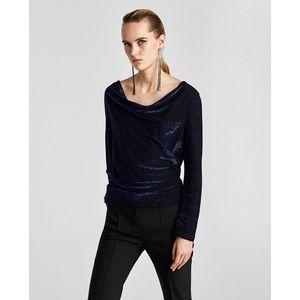 Zara shimmery top
